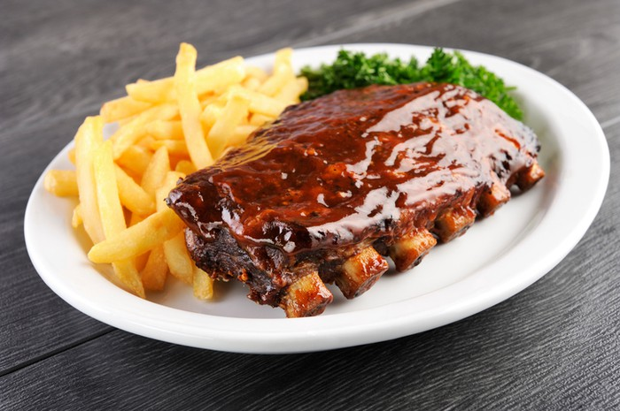 bbq ribs and fries